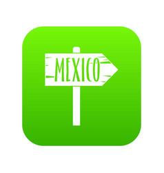 mexico wooden direction arrow sign icon digital vector image