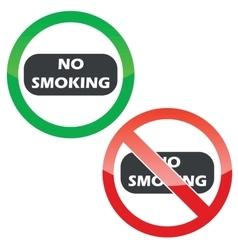 NO SMOKING permission signs set vector