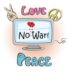 No war hippie elements vector
