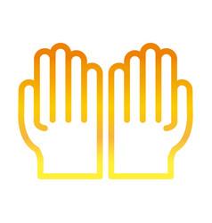 open hands gesture palm traditional ramadan arabic vector image