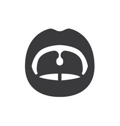 Open mouth icon vector