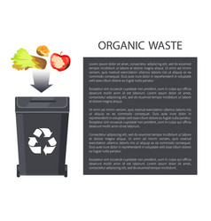 Organic waste throwing in bin vector