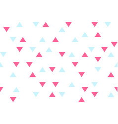pink blue colorful abstract triangles retro paper vector image