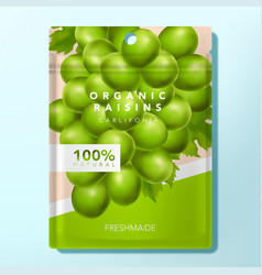 plum raisin or candy packet packaging vector image