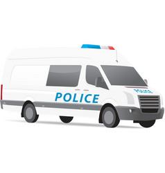 Police van vector