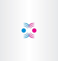 Radio waves interference icon vector