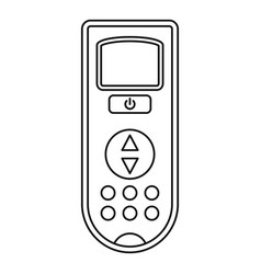 Remote control conditioner icon outline style vector