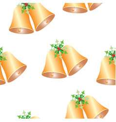 seamless pattern with christmas bells vector image