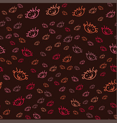 seamless pattern with the face of a naughty boy vector image