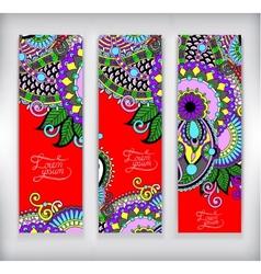 set decorative flower template banner vector image