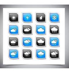 Set of color weather buttons vector image