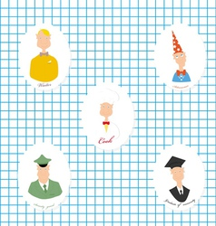 Set of the image of people of different vector image