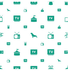 show icons pattern seamless white background vector image