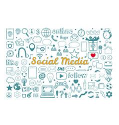 social media icons set 1 vector image
