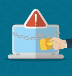 technology internet security flat design vector image