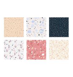 terrazzo seamless pattern square marble stone vector image