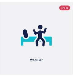 Two color wake up icon from education concept vector