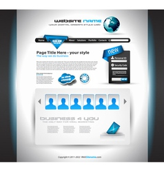 website layout vector image