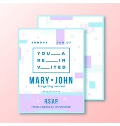Wedding Invitation Card or Poster Template Modern vector