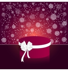 Elegant festive red background with a round red vector image