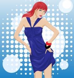 fashion model vector image