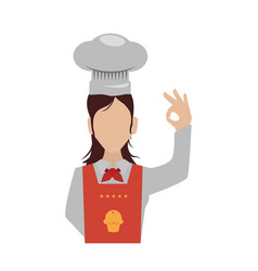 female chef faceless hat vector image