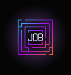 Maze with job colorful icon vector