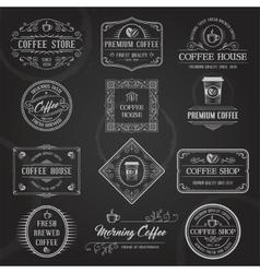 Retro Coffee Labels Black vector image