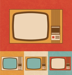 Retro Icons - Small Television Set vector image vector image