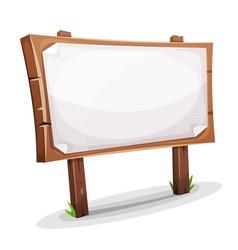 rural wood sign vector image