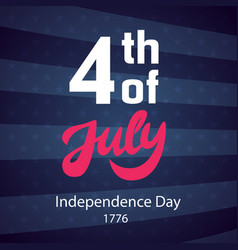 4th of july retro poster template vector image vector image