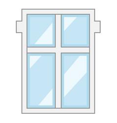 big window frame icon cartoon style vector image vector image