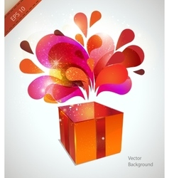 christmas card with red explosion vector image vector image
