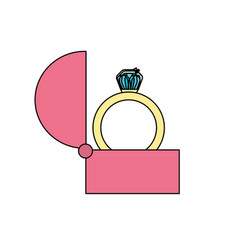 engagement ring and romantic relationship vector image