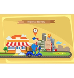 Express delivery flat design vector image vector image