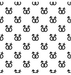 Gender symbol pattern vector