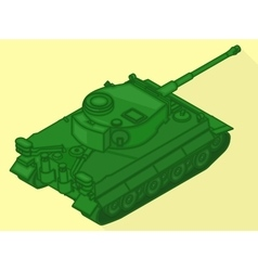 Tank isometric flat 3d vector image vector image