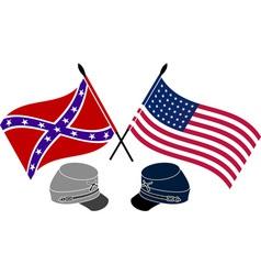 American Civil War stencil first variant vector image
