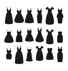 flat set of dress vector image