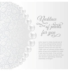 Perls on a white background vector image