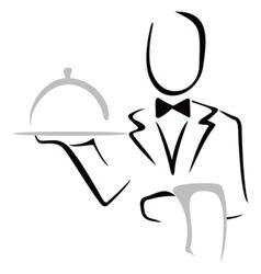 Serving dinner vector image vector image