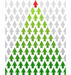 arrow christmas tree business theme vector image vector image