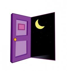 door night vector image vector image