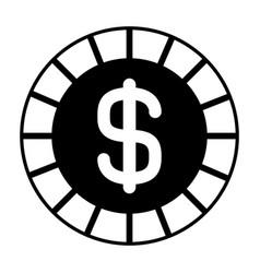 golden coin money dollar cash icon vector image