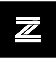 Letter z wide white stripes logo monogram emblem vector