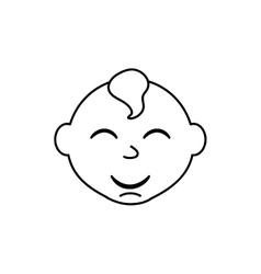little baby cartoon vector image