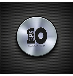 metal icon on metal background Eps10 vector image vector image