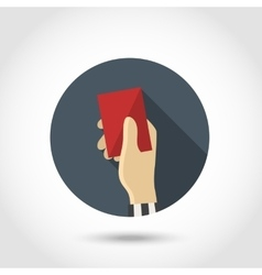 Red card flat icon vector image vector image