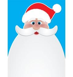 santa poster vector image vector image