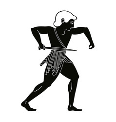 a warrior with a sword vector image